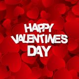 Happy Valentines Day Card with Heart. Vector Illustration Royalty Free Stock Photography