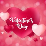 Happy Valentines Day Card with Heart. Vector Illustration Royalty Free Stock Image