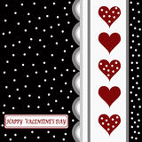 Happy valentines day card Stock Image