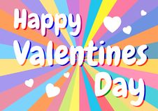 Happy valentines day card. hearts background. vector. Illustration Stock Photo