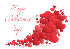 Happy valentines day card with hearts. Valentine Love vector. Stock Images