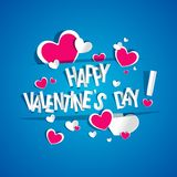 Happy Valentines Day card Stock Images