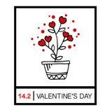 Happy valentines day card Stock Photos