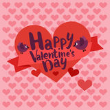 Happy valentines day card. lettering with heart Stock Image