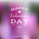 Happy Valentines Day card. Lettering. Vector blurred background Stock Image