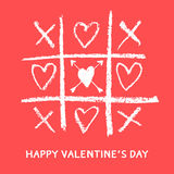 Happy valentines day card,love game Stock Image