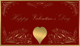 Happy valentines day card red Royalty Free Stock Photo