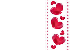 Happy Valentines Day card Red hearts valentine vector background Stock Photo