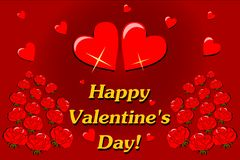 Happy Valentines Day card Royalty Free Stock Photography