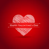 Happy Valentines day card. Sample Royalty Free Stock Images