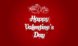 Happy Valentines day card with shadows roses and lighting effect Stock Photography