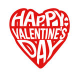 Happy Valentines day card typography Royalty Free Stock Images