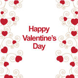 Happy valentines day. Card use any size Stock Images