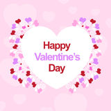 Happy valentines day. Card use any size Royalty Free Stock Photo