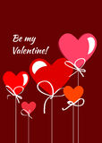 Happy valentines day card.vector.flyer background. Stock Image