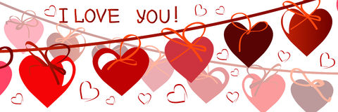 Happy valentines day card.vector.flyer background with hearts stock photography
