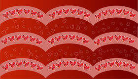 Happy valentines day card.Vector.flyer background with hearts Stock Image