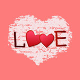 Happy valentines day card.Vector. Stock Photo