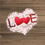 Happy valentines day card.Vector. Flyer background with hearts Royalty Free Stock Images