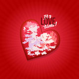 Happy valentines day card.Vector. stock image