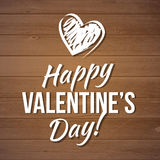 Happy valentines day card.Vector.flyer background with hearts. Stock Image