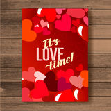 Happy valentines day card.Vector.flyer background with hearts stock photos