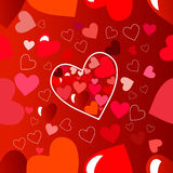 Happy valentines day card.Vector.flyer background with hearts. royalty free stock image