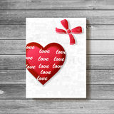 Happy valentines day card.vector. Stock Photos
