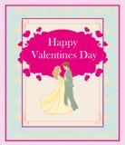 Happy Valentines Day Card. Vector Illustration Stock Photo
