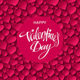 Happy Valentines Day Card. Vector illustration Stock Photo