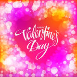 Happy Valentines Day Card. Vector illustration Royalty Free Stock Photography