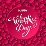 Happy Valentines Day Card. Vector illustration Stock Photos