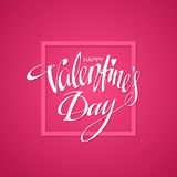 Happy Valentines Day Card. Vector illustration. Happy Valentines day Hand Drawn lettering. Background, poster, template. Valentines Day greeting card design Vector Illustration