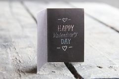 Happy valentines day card, vintage style Royalty Free Stock Photo
