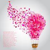 Happy valentines day cards with air balloon. Stock Photography