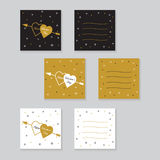 Happy valentines day cards with  arrow. Stock Image