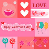Happy valentines day. Cards,decorative,ornament Royalty Free Stock Images