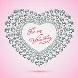 Happy valentines day cards with diamant heart Stock Image