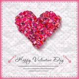 Happy valentines day cards with heart on Royalty Free Stock Photos