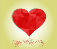 Happy valentines day cards with hearts Stock Photo
