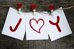 Happy valentines day. Cards with I love you on wooden board Stock Image