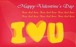 Happy valentines day cards with ornament. S, hearts, ribbon, angel and arrow Stock Photography