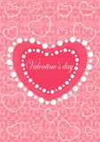 Happy valentines day cards with ornaments, hearts  Stock Photography