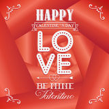 Happy valentines day cards on rose background Royalty Free Stock Image