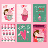 Happy  Valentines day cards Stock Images
