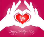 Happy Valentines Day Cards With Hearts Stock Image