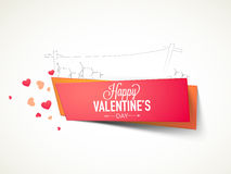 Happy Valentines Day celebration with boards. Stock Images