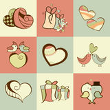 Happy Valentines Day celebration collection. Royalty Free Stock Photography