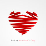 Happy Valentines Day celebration with creative heart. Royalty Free Stock Image
