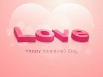 Happy Valentines Day celebration with 3D text. Stock Photos